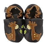 HOBEA-Germany Krabbelschuhe für Jungs und Mädchen in verschiedenen Designs, Modell Schuhe:Giraffe, Schuhgröße:22/23 (18-24 Monate)