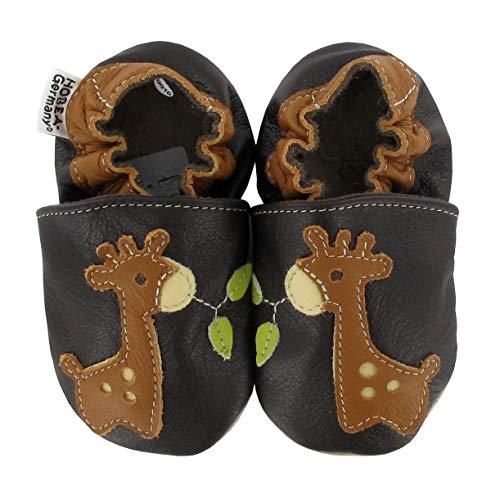HOBEA-Germany Krabbelschuhe Babyschuhe mit Tieren, Modell Schuhe:Giraffe, Schuhgröße:26/27 (30-36 Monate)