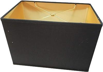 Softback Black Rectangular Drum Lampshade (16x10) (16x10) x 11