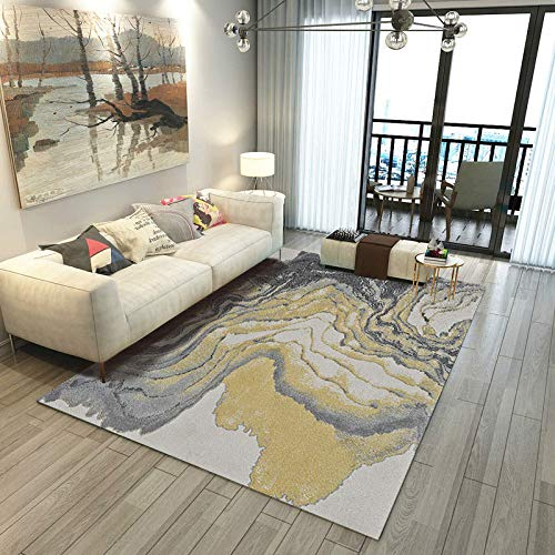 Round Ball Modern Retro Style Carpet Living Room Carpet Rug Carpet Comfortable Anti-Static Large Size Bedroom Bedside Mat 120X160CM
