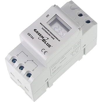 Interruptor Temporizador electr/ónico programable LCD DIN planificador semanal 16A 220V