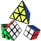 EACHHAHA Cubo de Velocidad Speed Cube Set,2x2 3x3 Cubo magico pirámide Cubo Smooth Speed Reliable 3D Puzzle,Profesional Magic Cube Apto para Adultos y niños