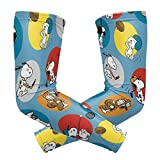 Snoopy Play Ball Arm Sleeve - UV Protection Cooling Compression Sun Sleeves for Men & Women for Running, Cycling,Baseball, Basketball, Golf