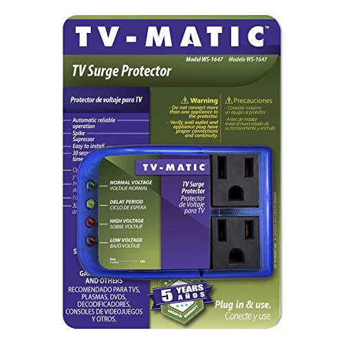 Protector de sobretensiones electrónico para TV, DVD y consolas de juegos