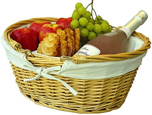 Cestas de picnic de mimbre | Cesta de mimbre para niños | Cesta de mimbre tejida a mano ideal para cesta de Pascua | Almacenamiento de huevos de Pascua de plástico Cestas de regalo para bodas