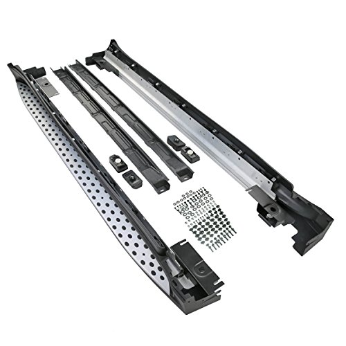 Set Aluminium Trittbretter Schwellen Bretter Schwellerrohre für M-Klasse W164 ML280 300 320 350 420 500 2005-2011 inkl. Anbaumaterial