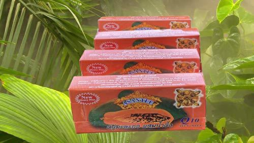 Asantee Thai Papaya Herbal Skin Soap 135 g (pack of 4)…