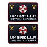 Resident Evil Umbrella Corporation PVC parche insignias emblema apliques gancho parches para ropa mochila accesorios brazalete 2PCS (D)