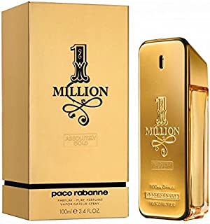 1 Million Absolutely Gold by Paco Rabanne for Men - Eau de Parfum, 100ml