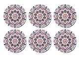 Palooza - Premium Design Mandala Glasuntersetzer (6er Set) – Dekorative Untersetzer für Glas,...