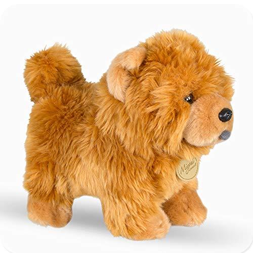jingru Muñeco Chow Chow Relleno Lindo Animal Suave Cachorro Juguete De Peluche Perro De Simulación Muñecos Mullidos Cumpleaños 25 Cm