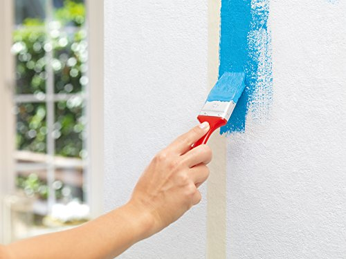 tesa Malerband PERFECT – Dünnes Abdeckband für präzises Abkleben im Innenbereich – aus ungekrepptem Spezialpapier – 50 m x 50 mm