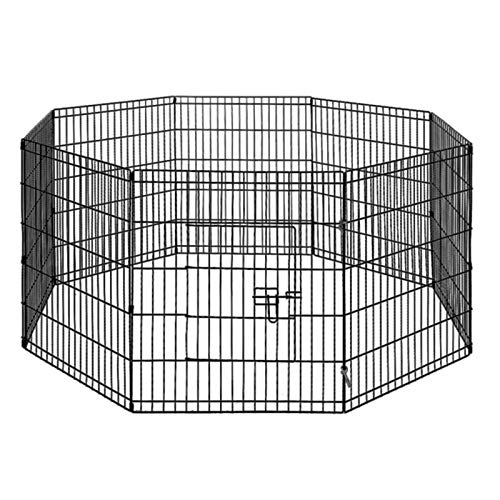 30' 8 Panel Pet Playpen Portable Exercise Cage Fence Dog Puppy Rabbit Enclosure