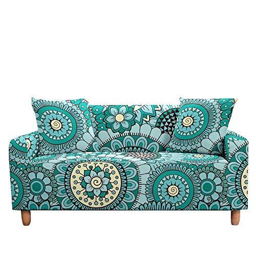 Vlejoy Couch-Husse Elastischer Sesselbezug Couchbezug Für Wohnzimmer Böhmische Sofabezug Stretch Slipcovers-3-Sitzer (190-230cm) _Color-G