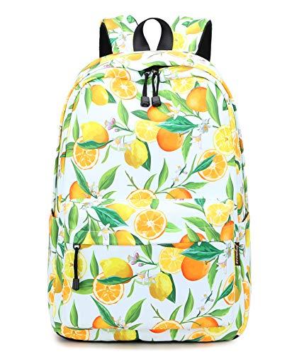 Joymoze Modischer Wasserabweisender Schule Rucksack Lockere Tasche für Jugendliche Mädchen Orange