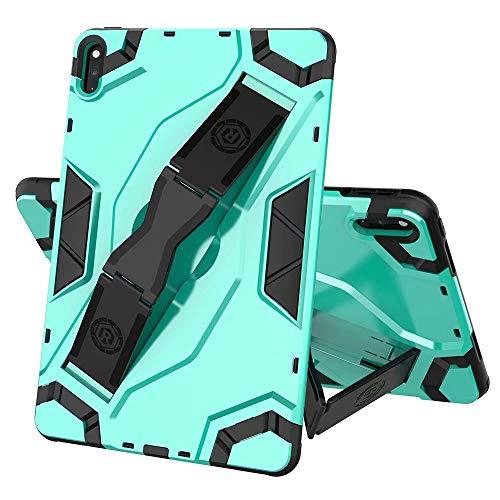 FanTing Cover for Lenovo Tab E10 TB-X104F Tablet Case, non-slip hand strap, adjustable segment bracket, anti-fall protective shell suitable for Lenovo Tab E10 TB-X104F.(Green)