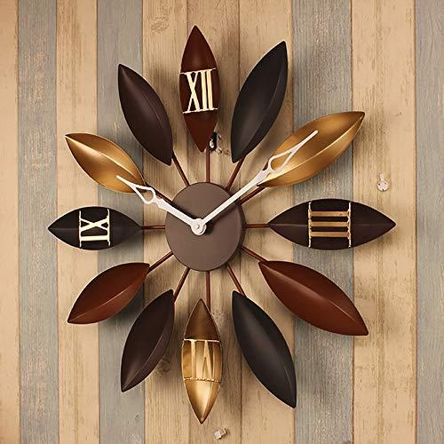 GDUSFQA grote muur klok voor woonkamer creatieve blad vorm stille muur klok niet tikken klok voor keuken/slaapkamer/woonkamer/kantoor