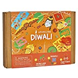 Indian Festival Diwali Themed Craft Kit for Kids and Adults   3 Activities-in-1   Great Gift for Boys and Girls 5 Years and Up   Make Your Own Shubh Labh Door Greetings, Diwali Lantern and Rangoli