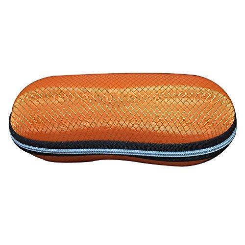 Lubier - 1 funda para gafas de sol y gafas de sol para deportes, gafas de gafa, unisex, resistente, soporte de protección de tamaño estándar, para llevar los ojos, Naranja, 16,5 x 8 x 5cm