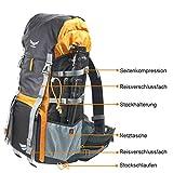 """Trekking Wander Rucksack """"KOMPAR"""" mit großem Fotofach, Fototasche für DSLR Kamera Ausrüstung..."""
