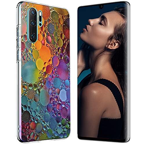 Hülle Case für Huawei P30 Handyhülle,Huawei P30 Pro Schutzhülle Ultradünn Transparent Silikon Soft TPU Crystal Clear Bumper Schutzhülle für Huawei P30 Lite Hülle