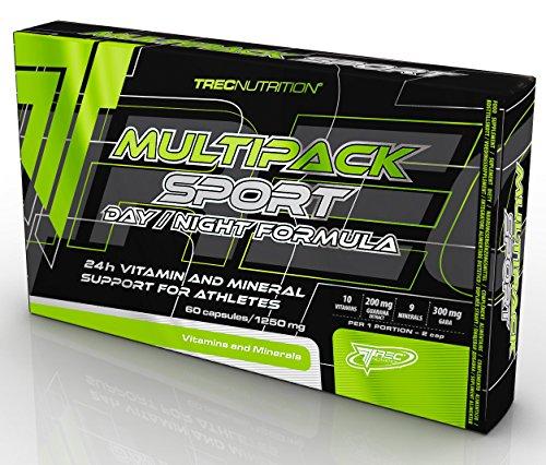 Trec Nutrition Multipack Sport Day/Night Formula Zwei Phasen Vitamin Und Mineralstoffformel Für Tag Und Nacht Sport Energie Bodybuilding 60 Kapseln