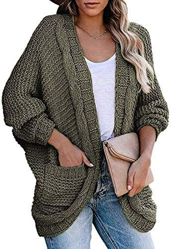 Women's Fashion Outdoor Sweater Cardigan Coat Outwear Loose Jackets,ArmyGreen,Medium