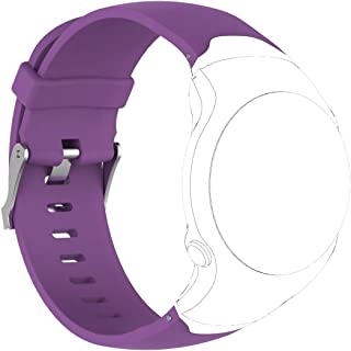 Consumer Electronics Smart Watch Silicone Wrist Strap Watchband for Garmin Approach S3 (Black) (Color : Purple)