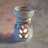 YODECO - Bruciatore di profumo marmorizzato marrone, blu e bianco, modello piccolo