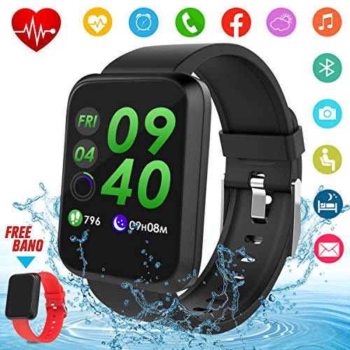 Fitness Tracker,Orologio Smartwatch Android Orologio Fitness Cardiofrequenzimetro da Polso Smart Watch Impermeabile IP67 Activity Tracker Orologio Intelligente Bluetooth Fitness Watch Sport Donna Uomo