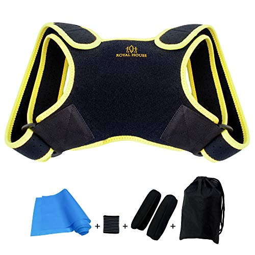 ROYAL HOUSE 1216 Posture Corrector for Men and Women. Clavicle Brace for Pain Relief Shoulders and Back. Hump and kyphosis Correction Support. (Medium)