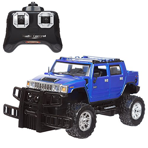 Invero® Satzuma Full Function Radio Controlled RC Hummer (H2) 1:24 Scale features Working Lights, Independent Suspension, Alloy Effect Rims Tyres, Front Wheel Tracking and Rubber Wing Mirrors
