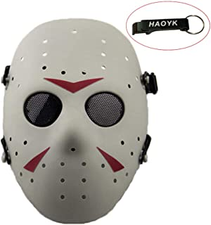 haoYK CS Games Jason Metal Mesh Mask Safeguard Full Face Protective Mask for Halloween Masquerade Cosplay Costume Party