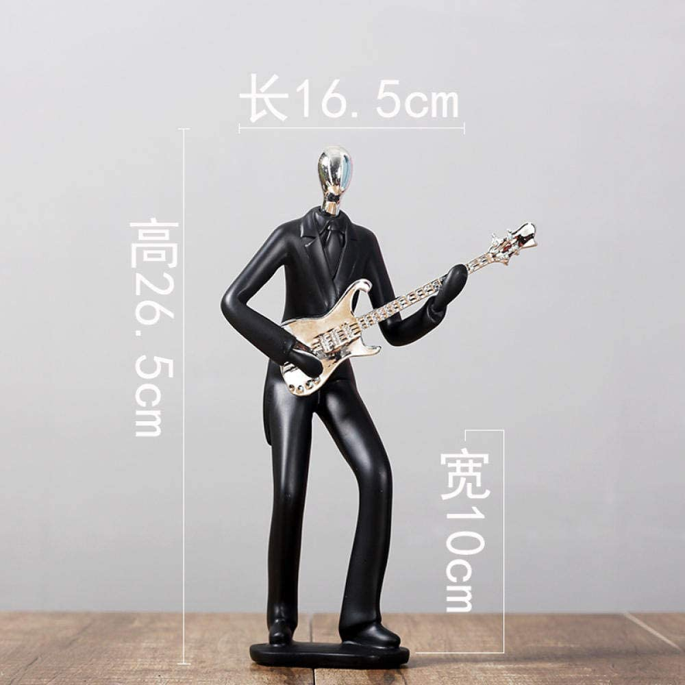 Sports Man Bicycle Golf Player Model famous Music Minneapolis Mall Statue Black Figurine