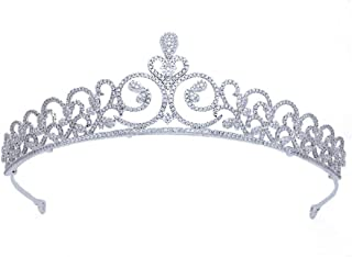 SUIWO Principessa Corona Gemme Strass Tiara Bambino Bambino Prom Birthday Princess Party Fascia Bride Wedding Headdress Mi...
