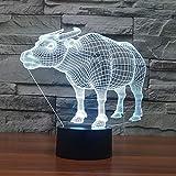 Solo 1 pezzo Buffalo Led 3d led Lamp Christmas Black tions For Home