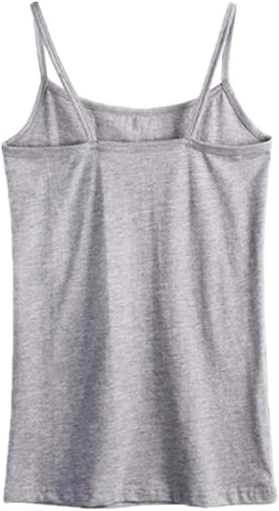 George Jimmy Sexy Fashion Women's Camisole Soft Vest Skinny Tank Top, 2 Gray