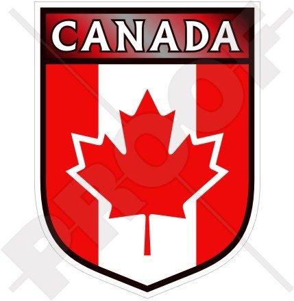 Canada Canadien du Commonwealth Bouclier 100 mm (10,2 cm) Bumper Sticker en vinyle, en