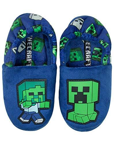 Minecraft Creeper vs Zombi Boys Blue Zapatilla Niños Casa del Zapato