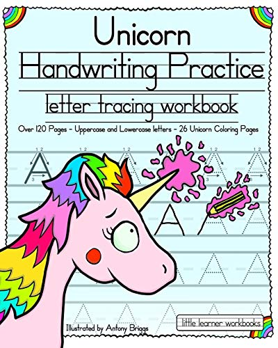Unicorn Handwriting Practice: Letter Tracing Workbook (Little Learner Workbooks) 2
