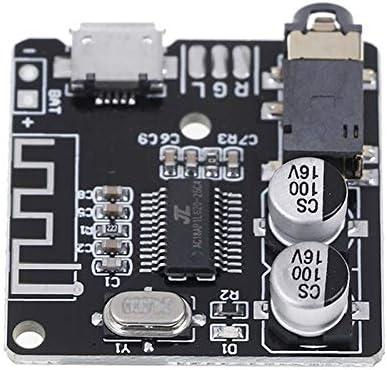 Placa receptora Bluetooth 5.0 de audio negro m/ódulo DIY descodificador MP3 para auriculares Yusea A