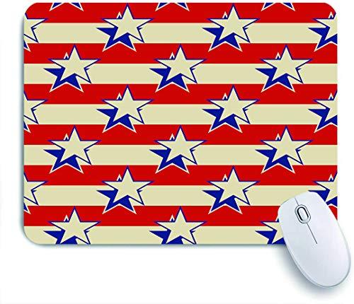 COFEIYISI Estrellas Rayas Fondo Transparente patriótico de Estados Unidos,Alfombrilla Raton Alfombrilla Gaming Alfombrilla para computadora con Base de Goma Antideslizante para Laptop con computadora
