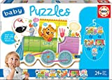Educa - Tren de los Animales Pack de 5 Puzzles, Multicolor (17142)