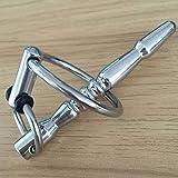 HWL SM Male Metall Edelstahl Harnröhren-Insertion Rod Pferdeauge Stimulus Dilator Alternative Spielzeug-Pferd Eye Masturbator Sonnenbrillen T-Shirt