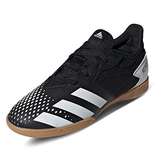 adidas Predator 20.4 IN Sala J, Zapatillas de fútbol, NEGBÁS/FTWBLA/GUM3, 34 EU