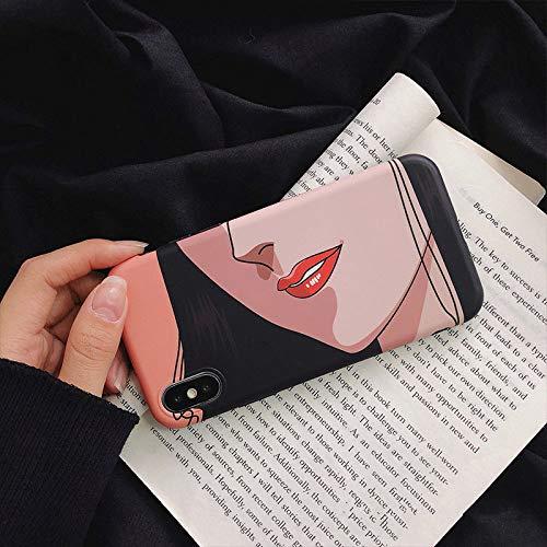 Carcasas Y Fundas,para iPhone 7 8 7 8Plus X Xs Xr Xs Max Funda De Teléfono,Cómic Sexy Labios Rojos Imd 3D Ultra Fina Funda Tpu Bumper Anti-Scratch Cubierta De Silicona,For Iphone 7Plus 5.5(Inch)