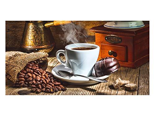 GRAZDesign Sichtschutzfolie Kaffee-Tasse, Kaffeebohnen Bedruckte Fensterfolie Glasdekorfolie als Sichtschutz für Küchen-Fenster (80x57cm)