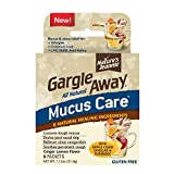 Gargle Away by Nature's Jeannie All Natural Mucus Care- for Mucus Relief, Sinus Congestion, Nasal Drip, Cough, 6 Packets, Ginger Lemon Flavor