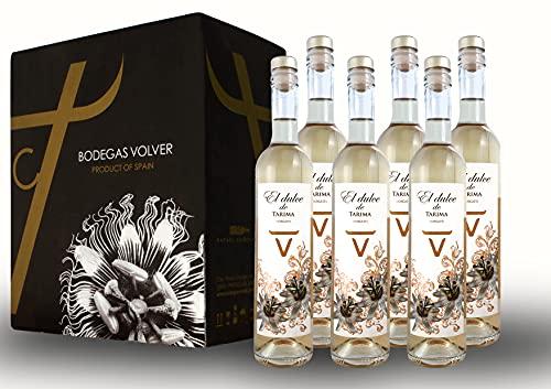 BODEGAS Y VIÑEDOS VOLVER | Vino Blanco Moscatel | El Dulce de Tarima - Mistela - | Pack de 6 Botellas |Denominación de Origen de Alicante | Variedad Moscatel | (6 Botellas de 750 ml)