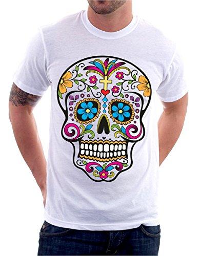 t-Shirt Teschio Messicano Tattoo Old School Skull Rock S M L XL XXL Maglietta by tshirteria